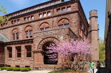 The exterior of Linsly Chitenden Hall, the iconic classroom building on Yale's old campus
